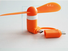 Mini 2 in 1 Portable Micro USB Fan For iPhone 5 6 hand Fans for Samsung HTC Sony Android OTG Smartphones USB Gadget