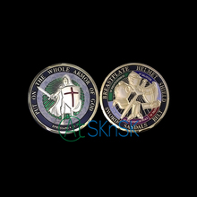 50pcs/lot Hot sales army coins Marine Corps medals souvenir United States Put on the Whole Armor Of God Challenge Coin 40*3mm