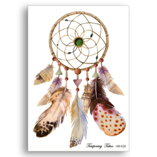 Water Transfer Fake tattoos Waterproof Temporary Stickers Disposable Colour glitter dreamcatcher dream catcher Sexy Party makeup(China)
