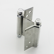 Stainless steel door closer hinge Free door double open Bidirectional spring hinges 4pcs