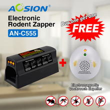 Buy Aosion pest control electric mouse mice rat trap killer rat zapper (Got Cockroach Repellent Free)