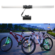 Wireless Programmable Bike Spokes Wheel Light 64 LED DIY Bicycle Lights Colorful Motor Cycle Lamp Luces Image For Night Cycling(China)