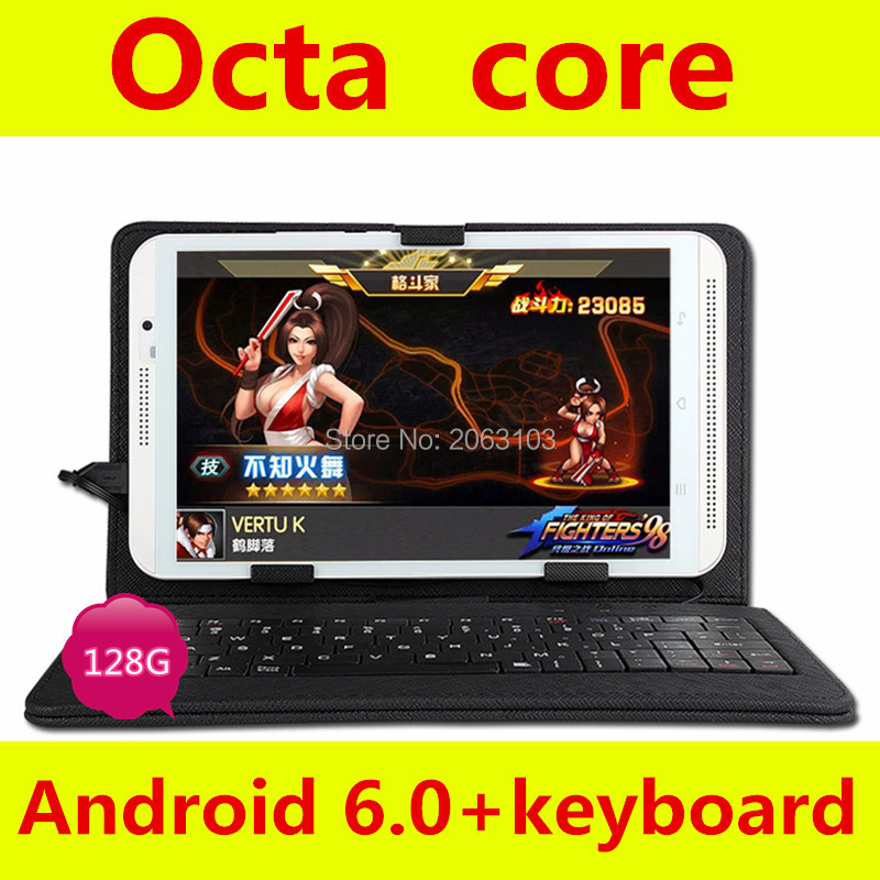 Free Gift Keyboard can add Russia or world language 8 inch Tablet phone android 6.0 4G LTE tablet pc RAM 4GB ROM 128GB 8MP IPS(China)