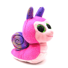 Ty Beanie Boos Original Big Eyes Plush Toy Doll Child Brithday 10 - 15cm Pink Snail TY Baby For Kids Gifts