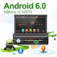 "2G 32G Android 6.0 Universal Single 1 DIN 7"" Car Radio Stereo Quad 4 Core Head Unit Without DVD Steering Wheel Camera OBD2 DVR"
