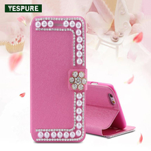 YESPURE Pink Leather Cell Phone Case Accessories Mobile for Iphone 6plus 360 Protect Full Cover Phone Wallet for Iphone 6splus(China)