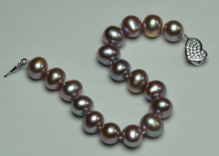 Freshwater pearl bracelet 10-11 lubrication oval color
