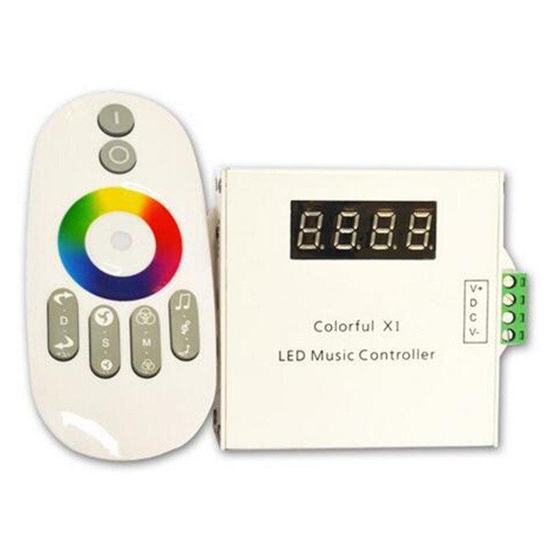 RF RGB Music Controller DC12-24V Color X1 LED Music Control 6Keys for SMD5050 SPI 6803 LED Strip Light<br>