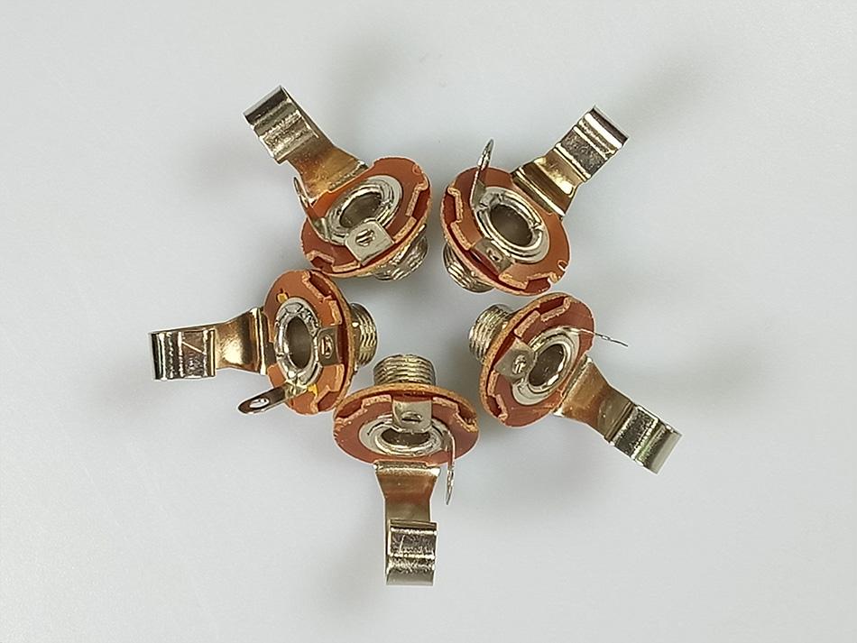 5pcs panel mount Solder female 6.35mm jack connector 6.35mm 1/4
