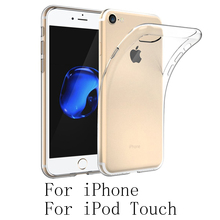 For Apple iPod Touch iPhone X 8 7 6 Plus 5 SE 5S 4s Crystal Clear Cover Slim Fit Back Soft TPU Protective Case Housing Carcasa(China)