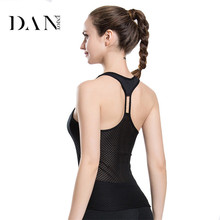 DANENJOY Outdoor Net Yarn Sleeveless Yoga Shirts Vest Quick Dry Fitness Sports Jersey 2017 Slim Breathable Sportswear Tank Top