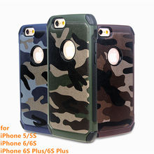 Knock Anti Shock Case For iphone 6S Plus 6 5S 5 iphone SE Military Case 3 in 1 Cover For iphone5 iphone5S Green Brown Royal Blue