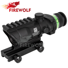 Tactical Good acog style 4x32 rifle scope green Optical fiber acog style hunting shooting RBO M9430(China)