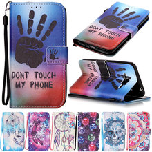 For Coque Samsung Galaxy J3 Case Flip Leather Back Cover Samsung Galaxy J3 2016 Art Print Pattern J320 Fashion Wallet Phone Case