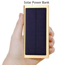 Large capacity 20000mh 50000mAh Solar power bank no 100000 powerbank portable usb charger 18650 cell for iPhone ipad Samsung
