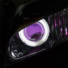 Clean Lens Projector Headlight White Angel Eyes Purple Demon Eyes HID Assembly Fits For Honda CBR600RR CBR600 RR 2007-2012(China)