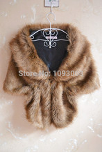 Women Lady Faux Fur Shawl Wrap Jacket Gilet Stole Waistcoat Bolero Shrug Cape Black White Brown Stylish