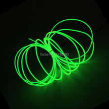 2.3mm 3Meter Lemon green Neon Light Dance Party Decor Light Neon LED lamp Flexible EL Wire Rope Tube LED Strip With Controller