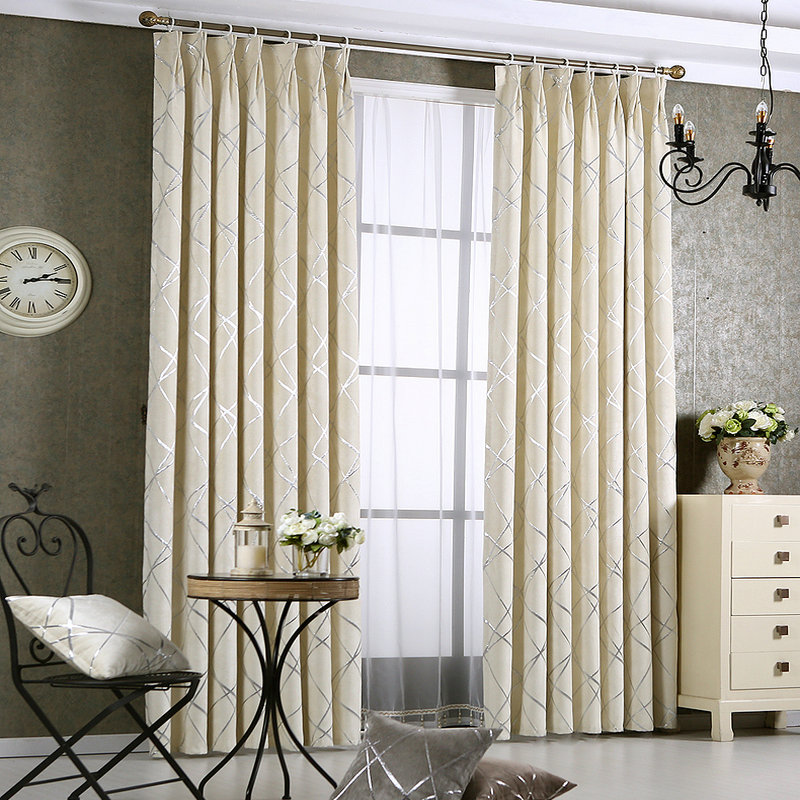 Lovely Dense Luxury Window Curtains For Living Room Bedroom Drapes Geometric  Stylish Custom Made Completely Blackout Part 14