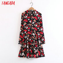 Buy Tangada Fashion Women Floral Print Shirt Dress Long Sleeve Vintage Retro Flower Autumn Dresses 2017 Casual Brand Vestidos XL96 for $14.48 in AliExpress store