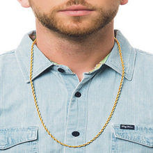 Trendy 4mm Gold Color Stainless Steel Long Chain Necklace For Men Rock Thick Snake Chain Necklace Male Fashion Jewelry