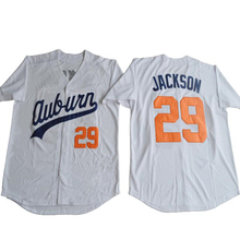 Real embroidery Mens #29 BO JACKSON Baseball White Jersey Chicks Moive jerseys size S - 5XL Free Shipping(China)