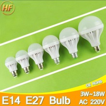 High Bright E14 E27 LED Lamp 220v Ball Bulb LED Light bulb 3W 5W 7W 9W 12W 15W 18W Lampara Bombilla Ampoule spotlight SMD5730
