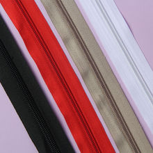 Zipper 5# White 1000cm(11 Yard) Nylon coil zippers wholesale Double Sliders Closed End Sewing Craft free shopping(China)