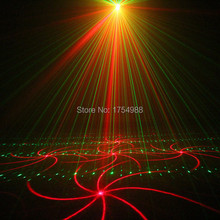 party light 5 Lens 80 Patterns RG Laser BLUE LED Stage Lighting DJ Show Light Green Red Home Professional Light(China)