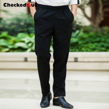 food service Hotel restaurant staff uniform for men new fashion breathable loose black chef pants
