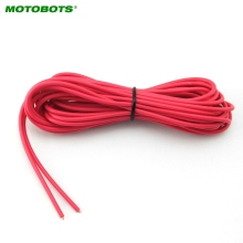 MOTOBOTS 20Pcs 24AWG 5meters Power Cord Wire For Car Head Unit Radio Amplifier Signal Cable #AM2187(China)