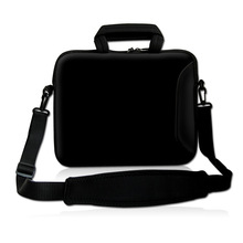 "Black Soft Laptop Carry Sleeve Case Bag Cover w/ Shoulder Strap,Outside Handle  For 9.7"" 10"" 10.1"" 10.2"" inch Laptop Tablet"