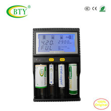 BTY-C4 Li-ion Ni-MH Ni-cd AA & AAA 10440 14500 18650 26500 CR123A Battery LCD Smart quick Charger Battery Capacity Measurement