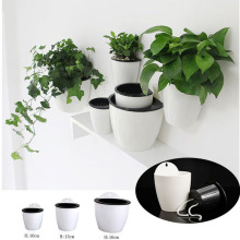Self Watering Plant Flower Pot Wall Hanging Plastic Planter Basket Garden Supply(China)