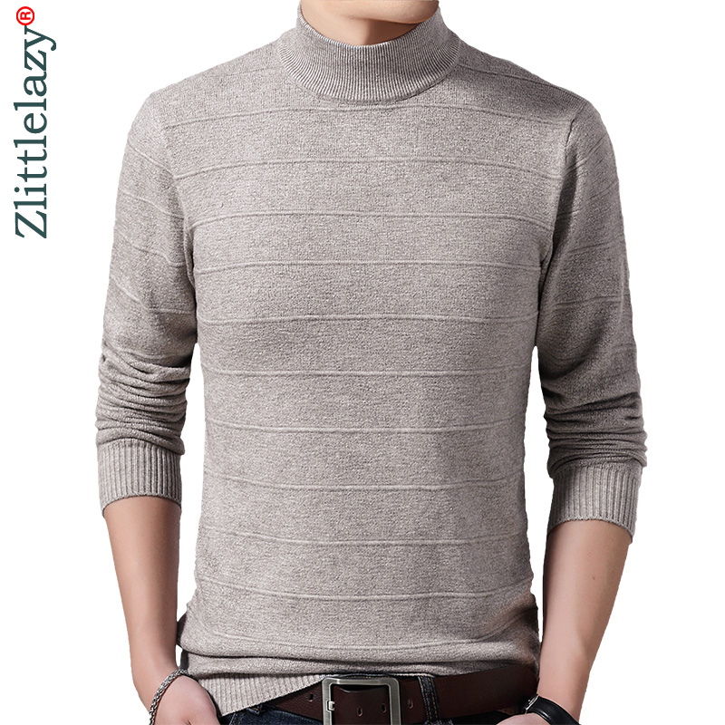 2019 new casual christmas turtleneck winter warm pullover men sweater dress thick knitted men's jersey solid sweaters mens 41221