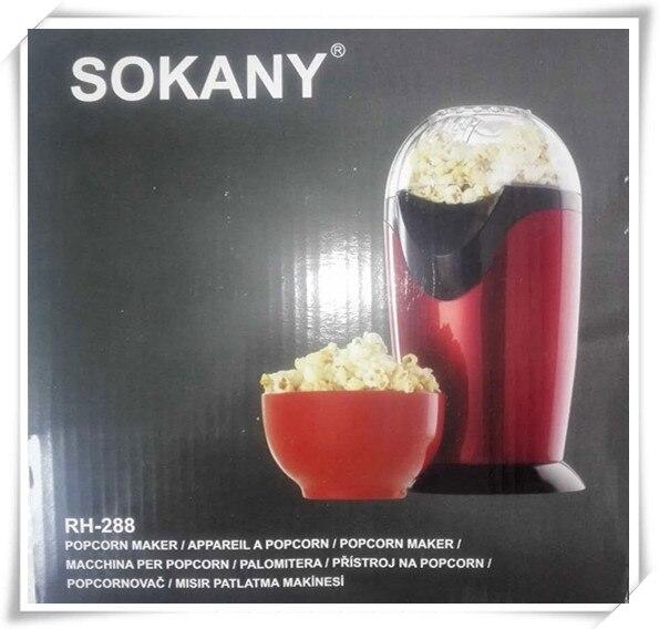 Mini Popcorn Maker Hot Air Popcorn Machine Household Healthy Hot Air Oil-free Mini Popcorn Making Machine Poping Popper<br>