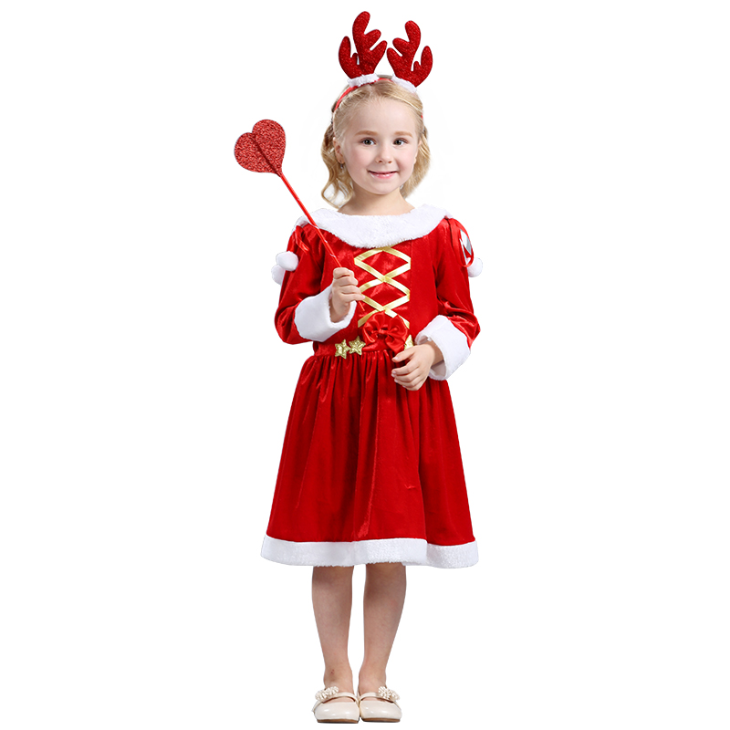 New arrivel Baby Girl Christmas Dress Girls Merry Christmas Party winter Dress Kids long Sleeves Clothes <br><br>Aliexpress
