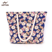 ADIYATE 2017 Bolsa De Playa Grande New Femmes Sacs Main Plage Sacs Main Big Tote Bag Beach Flowers Cheap Quality Big Beach Bag