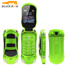 2016 Hot New NEWMIND F15 Flip Dual SIM Car Shaped Mobile Phone Clamshell 7 Colors with Dual Sim Card Flipping Cars Phones