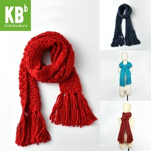 2017 KBB Spring Hot Style muticolors Bulky Lace Design Wool Lambswool Knitted Neck Warmer Wrap Scarf Scarves for women men(China)