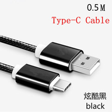 New Black Type-C & Micro USB Cable With Braided Stylus Cables USB Charger For Samsung XIAOMI HUAWEI Lenovo Micro Usb Cable