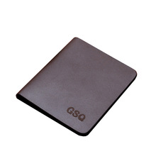 GSQ High Quality Leather Small Men Wallet Fashion Simple Famous Brands Hot Selling Designer Money Clip Male Purse Best Gift Q301(China)