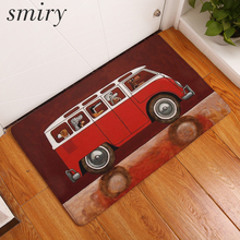 Smiry welcome home door mats light soft cool cute cartoon animals bus carpets decoration bedroom waterproof durable rugs decor