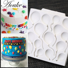 1PCS Balloon Shape Food Grade Silicone Soap, Chocolate, Cake Silicone Cake Molds, Fondant Cake Decorate G197/E107(China)