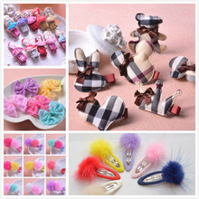 Different Style Children Hair Accessories Hairpins Hairgrip Best Girl Gift Surprise Hair Clip 8pcs Random(China)
