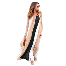 Buy Summer Women Boho Long Dress 2017 Ladies Maxi Loose Spaghetti Strap Beach Casual Party Dresses Sexy Sleeveless Sundress Vestido for $13.44 in AliExpress store