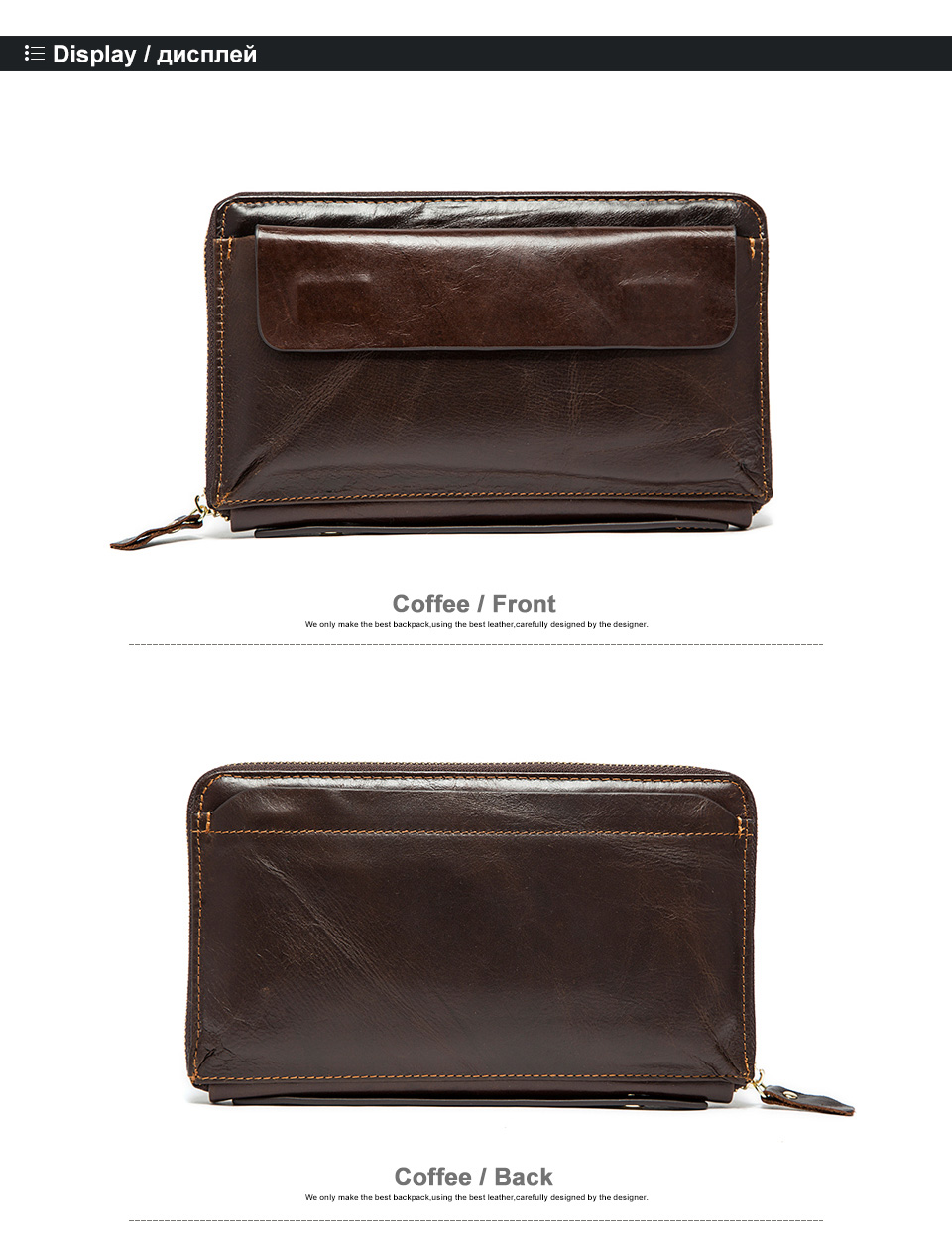 3 men clutch bags genuine leather