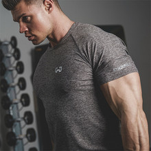 2017 New Brand clothing Gyms Tight t-shirt mens fitness t-shirt homme Gyms t shirt men fitness crossfit Summer top(China)
