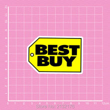 Best buy logo waterproof decal Doodle laptop motorcycle bike travel case decal Car accessories car sticker(China)