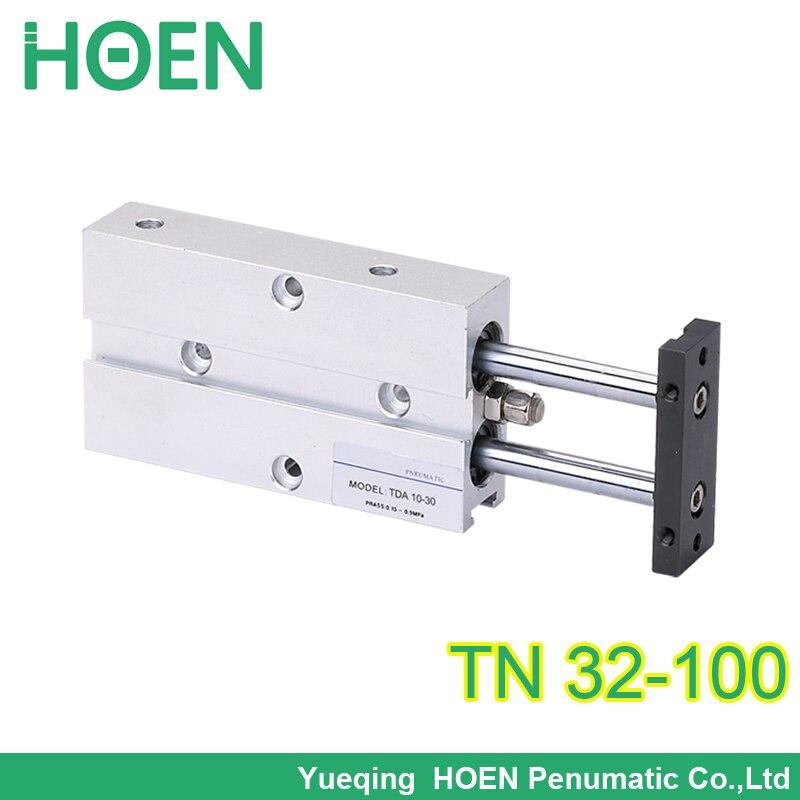 Airtact type TN(TDA) series guide air cylinder dual rod TN32*100 pneumatic cylinder PT 1/8 TN32-100 tn 32-100 TN 32*100 32x100<br><br>Aliexpress